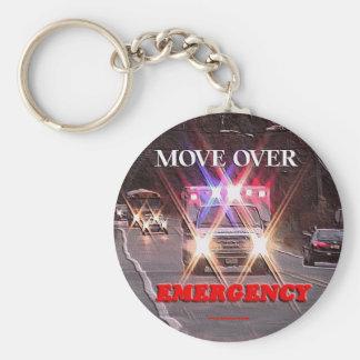 Ambulance_Move_Over.gif Basic Round Button Key Ring