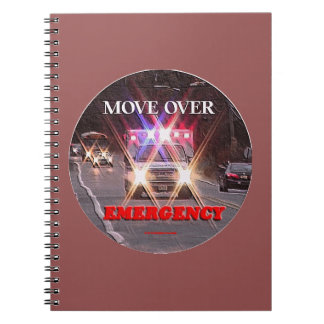 Ambulance_Move_Over.gif Spiral Notebook