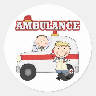Ambulance T-shirts and Gifts Classic Round Sticker