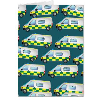 Ambulance Wallpaper Card