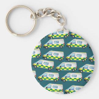 Ambulance Wallpaper Key Ring