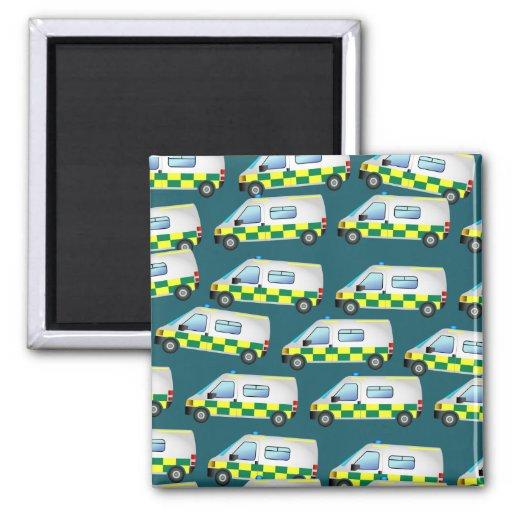 Ambulance Wallpaper Fridge Magnets