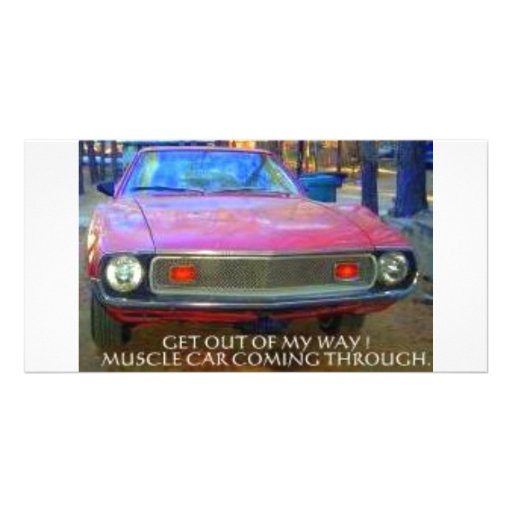 AMC 1974 AMX MUSCLE CARS PHOTO CARD TEMPLATE