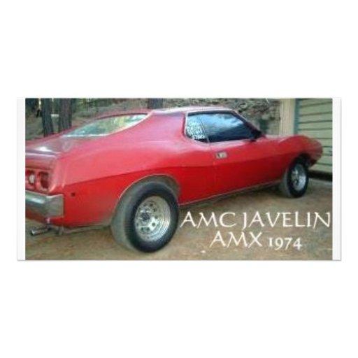 AMC JAVELIN AMX 1974 PHOTO CARD