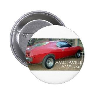 AMC JAVELIN AMX 1974 PINBACK BUTTON