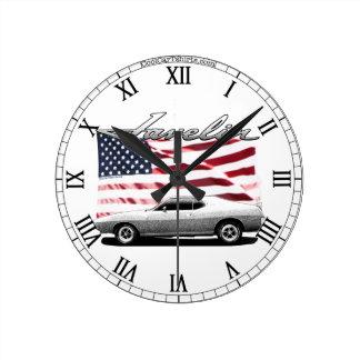 AMC Javelin AMX muscle car - Clock