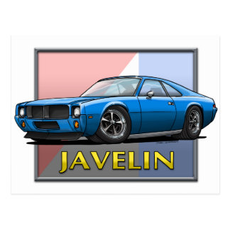 AMC_Javelin_Blue Postcard