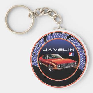 Amc Javelin Basic Round Button Key Ring