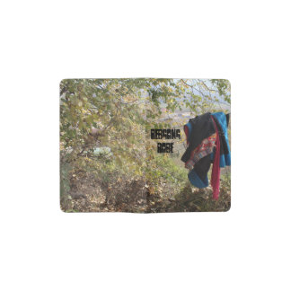Amdo Tibetan Ladies Robe On a Fence Pocket Moleskine Notebook