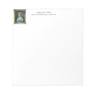 Amélie Julie Candeille 1791 Notepad