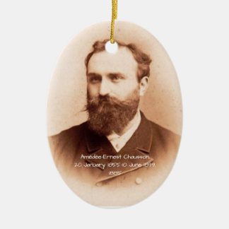 Amedee-Ernest Chausson Ceramic Ornament