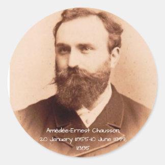 Amedee-Ernest Chausson Classic Round Sticker