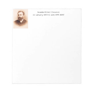 Amedee-Ernest Chausson Notepad