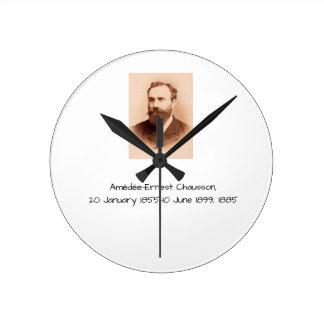 Amedee-Ernest Chausson Round Clock