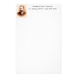 Amedee-Ernest Chausson Stationery