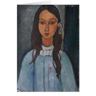 Amedeo Modigliani - Alice Card