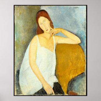 Amedeo Modigliani wife Portrait Poster