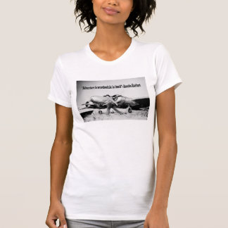 Amelia Earhart Ladies Adventure Quote T-shirt