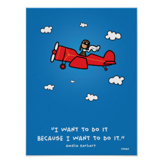Amelia Earhart poster 18x24 (and same ratio)