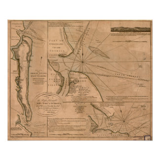 Amelia Island, Florida 1770 map Poster