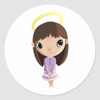 Amelia the Angel Classic Round Sticker