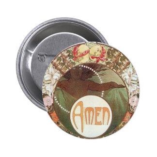 Amen 6 Cm Round Badge