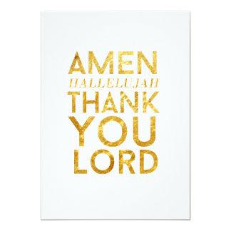 Amen Hallelujah Thank You Lord Desk Card