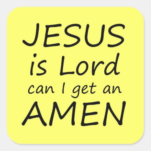 Amen Jesus Stickers