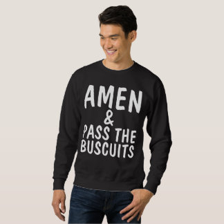 AMEN & PASS THE BUSCUITS Funny Mens T-shirts