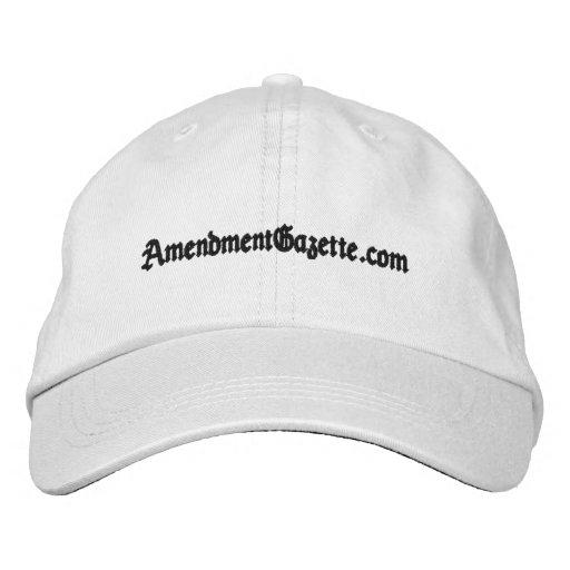 Amendment Gazette Adjustable Hat Embroidered Baseball Cap