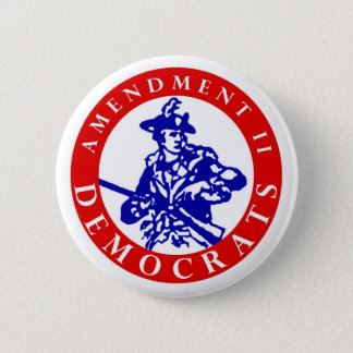 """Amendment II Democrats Logo 2.25"""" Button"""