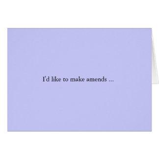 amends card