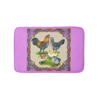 Ameraucana Family Framed Bath Mat