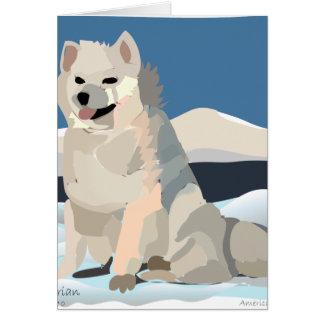 Amercan Eskimo - Just Chillin' Card