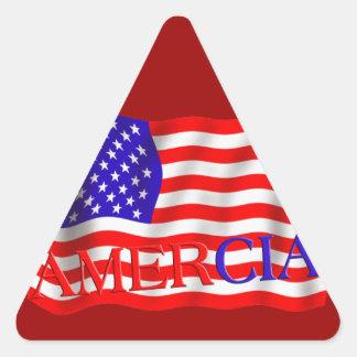 AMERCIA false flag design (America) Triangle Sticker