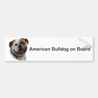 Amercian bulldog bumper sticker