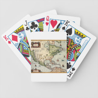 America 1610 bicycle playing cards