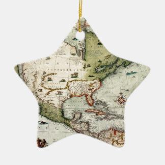 America 1610 ceramic ornament
