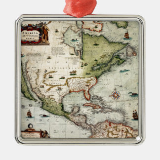 America 1610 metal ornament