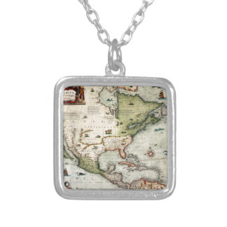 America 1610 silver plated necklace