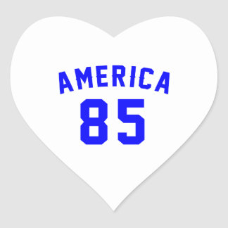 America 85 Birthday Designs Heart Sticker