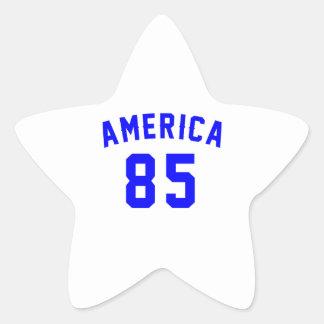 America 85 Birthday Designs Star Sticker