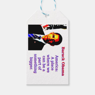 America A Place Where We Can Be - Barack Obama Gift Tags