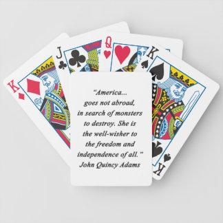 America Abroad - John Q Adams Bicycle Playing Cards