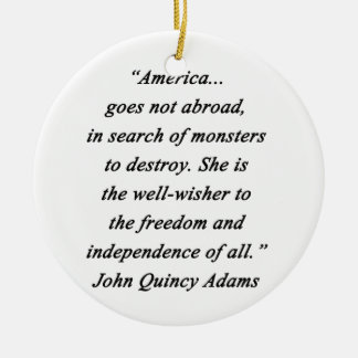 America Abroad - John Q Adams Ceramic Ornament