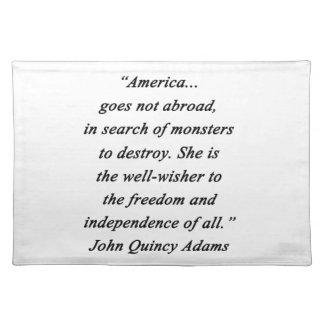 America Abroad - John Q Adams Placemat