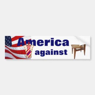 America against Empty Chair Bumper Sticker