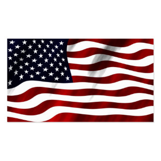 America American USA flag flying in the wind Double-Sided Standard Business Cards (Pack Of 100)