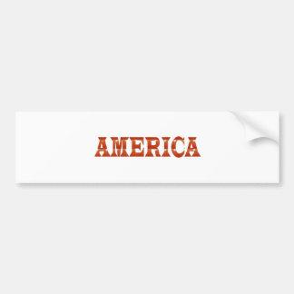 America American USA : RED Artistic Base LOWPRICE Bumper Sticker