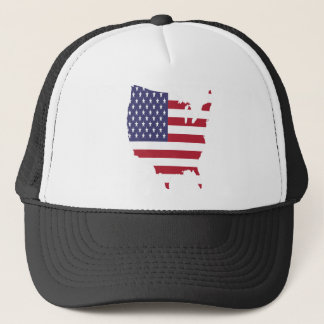 america art borders cartography country flag trucker hat